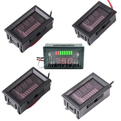 6V/12V/24V/36V/48V Charge Level Indicator Voltmeter Lithium/Lead-acid Battery