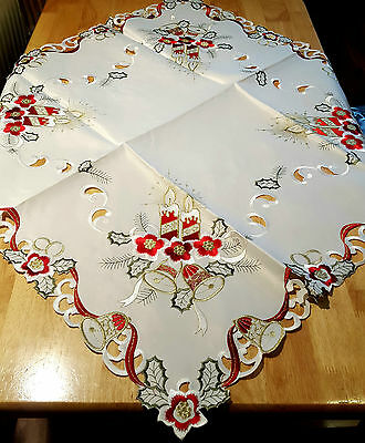 Stain Resistant Christmas Xmas table cloth 85 x 85 cm