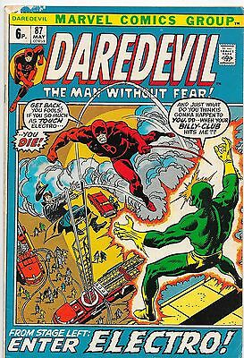 Daredevil #87 Bronze Age Marvel Comics Gerry Conway VG/F