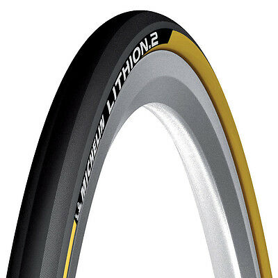 Yellow Michelin Lithion folding Road Racing bike cycle Tyre 700 23C