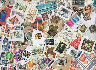 KILOWARE - 5Kg GB STAMPS from charity box on/off paper -- used