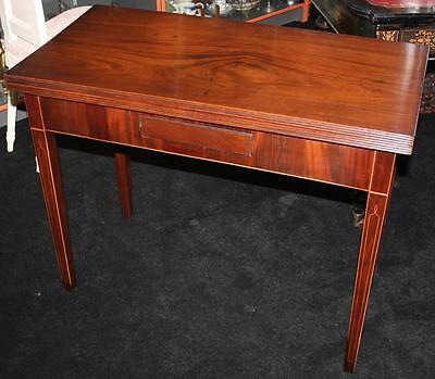 Antique George IV Inlaid Mahogany Regency Card Table