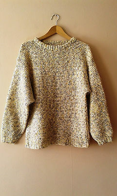 90s vintage slouchy knitted jumper grunge 14 16