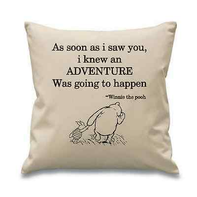 Classic Winnie The Pooh Quote Cushion Cover Perect Gift Baby Child Birthday