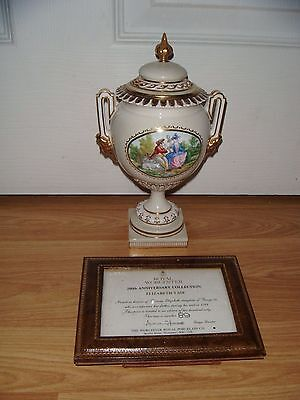Royal Worcester 200th Anniversary Elizabeth Covered Vase ~ BOXED ~ RARE ~ COA