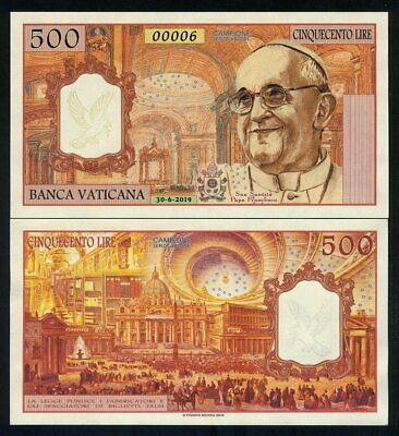 Vatican, 500 Lire, 2019, Private Issue Kamberra, UNC - Pope Francis