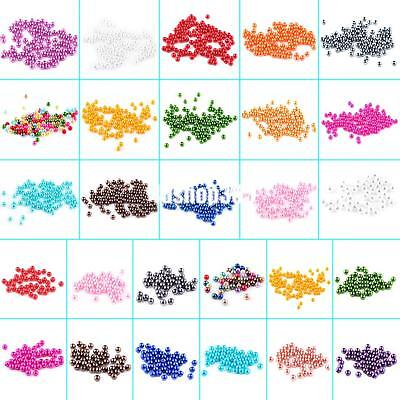 100 x 4mm / 50 x 6mm Artificial Pearl Round Loose Beads Many Colors Diy Jewelry