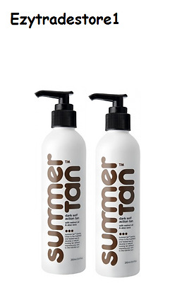 Mancine Summer Tan Dark Self Action Tan 250ml X 2