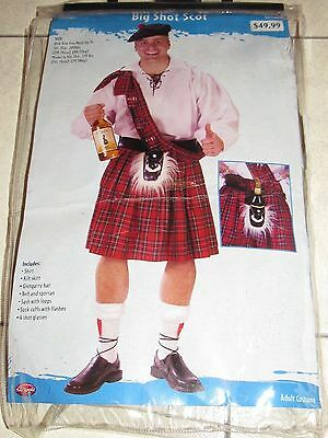 FUN WORLD BIG SHOT SCOT COSTUME (Sz Adult) - FREE US SHIPPING!