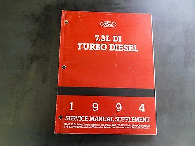 Ford 7.3L DI Turbo Diesel 1994 Service Manual Supplement