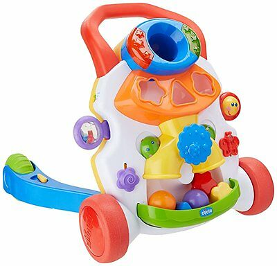 New Chicco Baby Steps 2 In 1 Push Along Walker Stop And Play Activity Centre