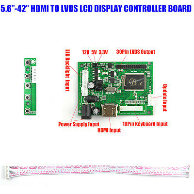 HDMI 30P LVDS LED LCD Controller Board Module Kit for Raspberry PI LCD  Display