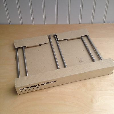 IKEA Rationell Variera WINE GLASS RACK Stainless Under Cabinet Mount 200.871.63