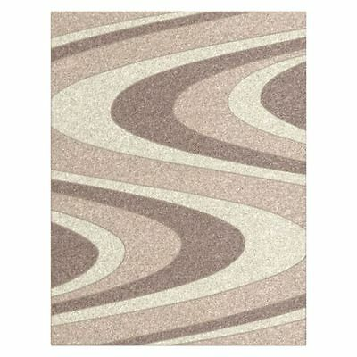 NEW Saray Rugs Colour Whirl Modern Rug in Beige, Black, Brown, Red
