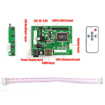 HDMI 30P LVDS LED LCD Controller Board Kit for Raspberry PI LCD Up to 1920x1080