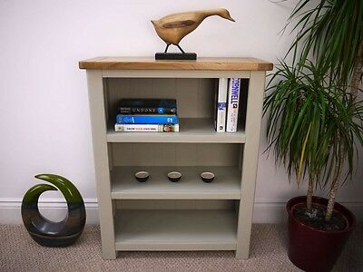 Windermere Sage Grey/Oak Small Bookcase Fully Assembled