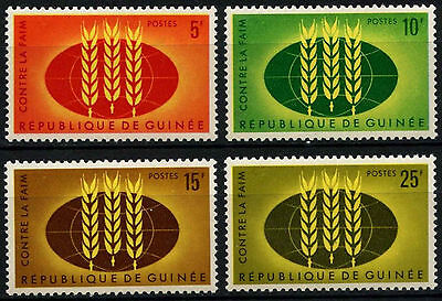 Guinea 1963 SG#379-382 Freedom From Hunger MNH Set #D35435