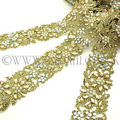 GOLD GLITTER Rhinestone trimming,edging,trim,sequins,beads,embellishment,stone