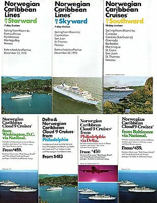 7 Brochures for Early NCL Fleet w/ Interiors & Plans - NAUTIQUES sHiPs WORLDWIDE