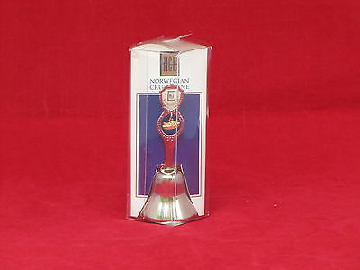 S.S. NORWAY Souvenir Bell in Original Packaging- Mint -NAUTIQUES sHiPs WORLDWIDE