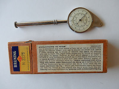 Charles Bruning Swiss Made Curvimeter Opisometer #2375 Map Scale Measurer & Box