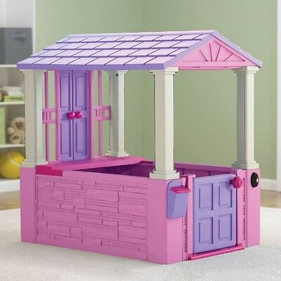 Playhouse For Kids Girls Toddler Toys Cottage Outdoor Indoor Plastic Play House