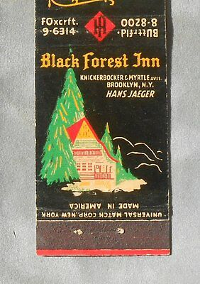 1940s Black Forest Inn Hans Jaeger German Restaurant 85th St. NYC Brooklyn NY MB