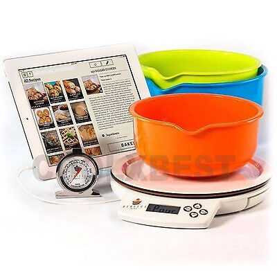 """Perfect Bake Digital Scale Baking Set """"learn To Bake"""" Great Gift For Chef To Be"""