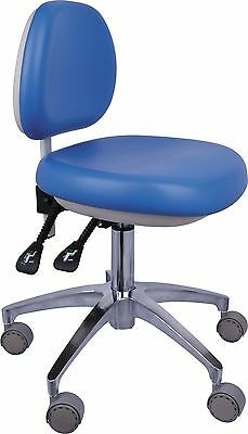 Dental Medical Office Stool Doctor's Stool Adjustable Mobile Chair PU Leather CE