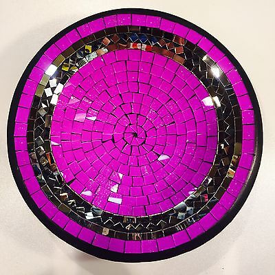 Bowl Plate decorative display dish modern Mosaic glass Handmade Large decor