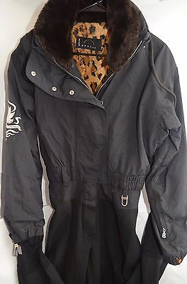 Bogner Full Ski/Snow Suit W/Embroidery & Faux Fur Collar Size 8 Made in USA!