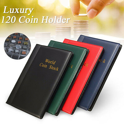 Portable 120 Coin Holder Collection Storage Money Penny Pocket Album Book Folder