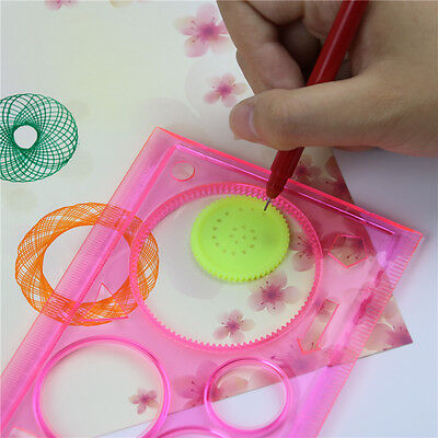 New Stationery Spirograph Geometric Ruler Drafting Drawing Art Students Gifts