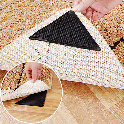 4Pcs Rug Carpet Mat Grippers Non Slip Skid Reusable Washable Grips Tool 2017 JT