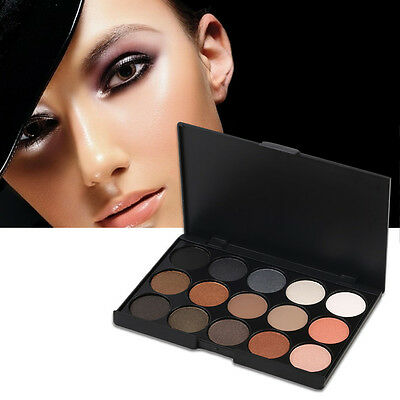 Professional 15 Colors Matte Shimmer Eyeshadow Palette Makeup Cosmetic ZX