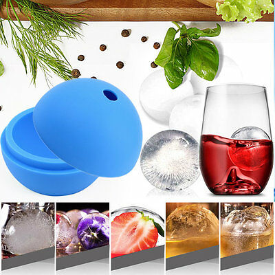 2.5 inch Silicone Ice Ball Maker Mold Sphere Large Tray Whiskey DIY Mould ZY