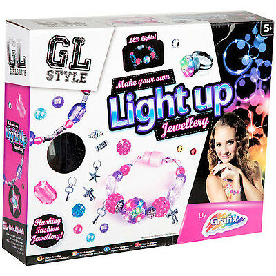 Make Your Own Jewellery Light Up Bracelets Making Kit Beads Charms GL Style