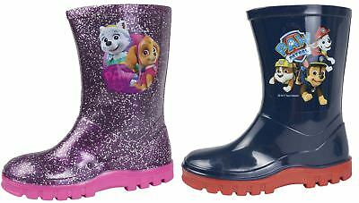 Paw Patrol Wellington Boots Rain Wellies Boys Girls Mid Calf Snow Boots Size