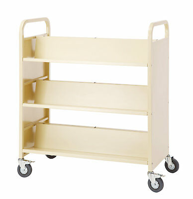 Guidecraft Double-Sided Book Cart Pearl
