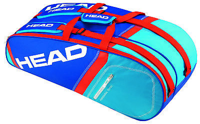 HEAD Core Combi 6 racquet racket tennis bag - Blue / Red - Auth Dealer