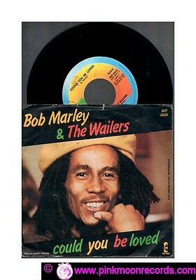 "Bob Marley & The Wailers Could You Be Loved +One Drop 1980 Island Italy 7""45 Rpm"