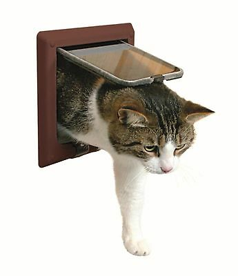 Trixie 38643 4-Way Cat Flap with Tunnel Brown