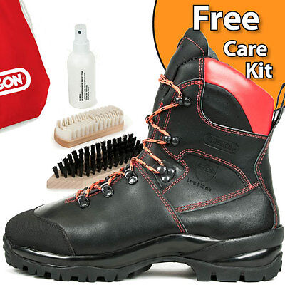 Brand New Oregon Waipoua Leather Chainsaw Safety Boots Class 1 All Sizes