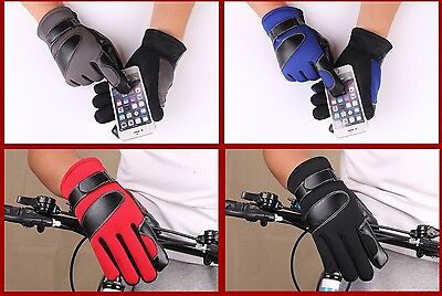 Cycling Gloves  Full Finger Winter Cold Weather Windproof Touch Screen Gloves