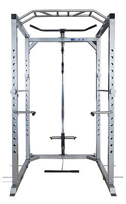 Heavy Duty Power Rack Squat Cage Machine Cable Pulley Pull Up Bar Dips Home Gym