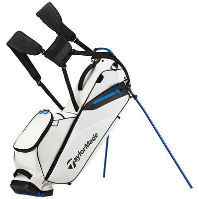 TaylorMade FlexTech Lite Golf Stand Bag White 2017 Carry Bag New