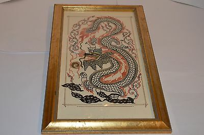Vintage Japanese Dragon Collage Picture