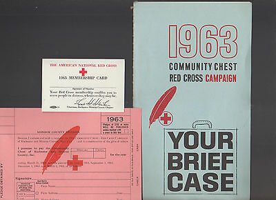 Red Cross Community Chest Campaign 1963 Your Brief Case