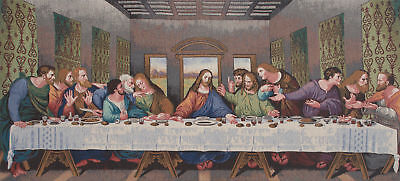 The Last Supper Tapestry Panel (Large) Stretched Woven Tapestry Wall Hanging