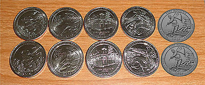 2016 National Park Quarters  P& D Yearly Uncirculated coin set